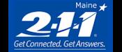 2-1-1 Maine Logo